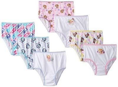 Paw Patrol Toddler Girls 7 Pack Assorted Color Panties Size 2T/3T 4T