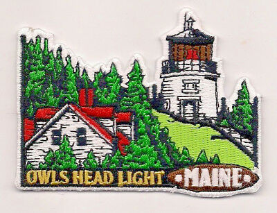 Souvenir Lighthouse Patch - Owls Head Light, Maine