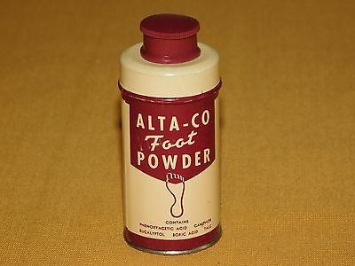 Vintage Made  Usa Old Dolge  Alta-Co Foot Powder Full 1/2 Oz Tin Can Unused