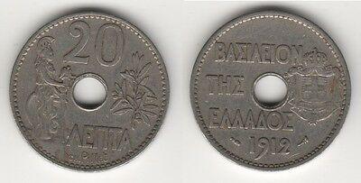 Grecia Greece 20 Lepta 1912 #mm26