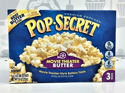 Pop Secret Movie Theater Butter Microwave Popcorn 9.6 oz