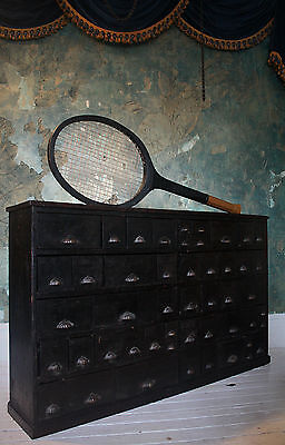 Over sized Giant Sport Shop Trade Display Sign Vintage Industrial Tennis Racket