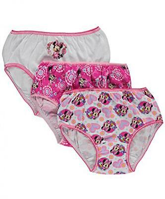 Minnie Mouse Toddler Girls 3 Pack Assorted Color Panties Size 2T/3T 4T