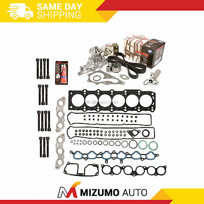 HEAD GASKET SET Timing Belt Kit Water Pump Fit 98-00 Lexus SC300 3 0L 2JZGE