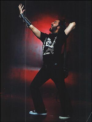 System of a Down Daron Malakian with Randy Rhoads T-Shirt 8 x 11 pinup photo