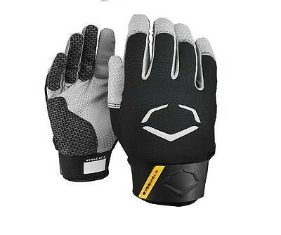 BLACK EvoShield Pro Style Protective Batting Gloves A140 Size Youth Small