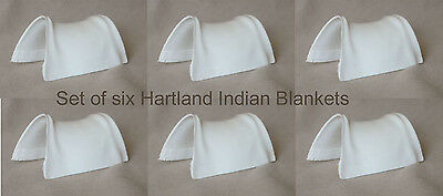 HARTLAND Steven Horse & Rider set of 6 Unpainted Plastic INDIAN SADDLE BLANKETS