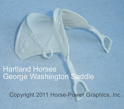HARTLAND Steven Horse & Rider Unpainted Plastic Gen. George Washington SADDLE