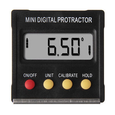 Digital Angle Finder Protractor Inclinometer Clinometer Spirit Level 4×90°