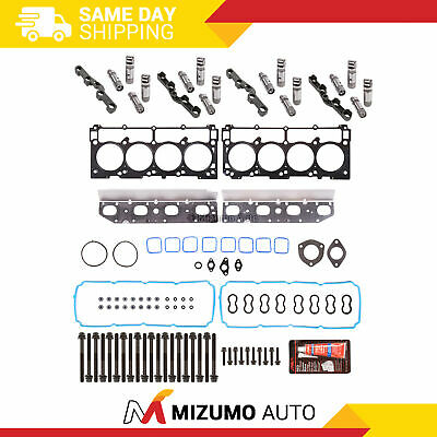 Head Gasket Set Bolts MDS Lifters Fit 09-12 Chrysler Dodge Jeep Ram 5.7 HEMI
