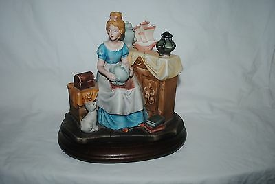 Norman Rockwell large music box figurine, Dreams in Antique Shop, music not work