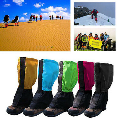 1 Pair Waterproof Outdoor Walking Hiking Climbing Hunting Snow Legging Gaiters