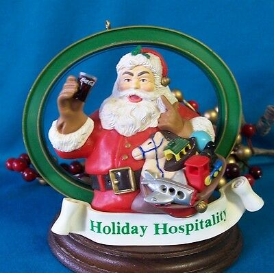 Coca Cola Magic Santa Ornament 1995  Holiday Hospitality Cavanagh's Collector's