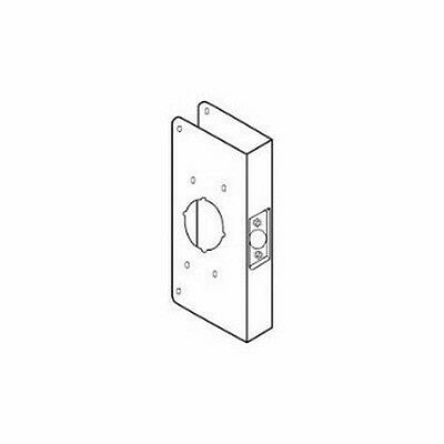 Don-Jo 4550-CW 22 Gauge Stainless Steel Mortise Lock Wrap-Around Plate