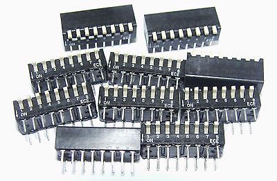 10 x ECE 8 way piano style Dip Switch SPST excel