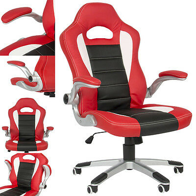 RayGar Supreme Red Racing Seat Gaming Chair Swivel Computer Desk Office Chair