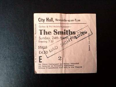 The Smiths Morrissey ticket Newcastle City Hall 24/03/85