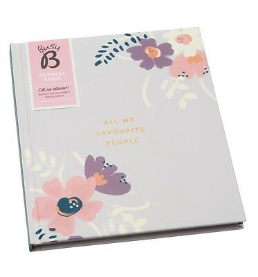 NEW! Busy B Floral Address Book Large