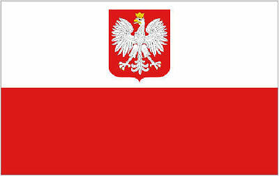 Polish Poland Flag with State Eagle 5'x3'