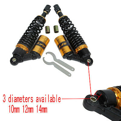 340mm 350mm Motorcycle Scooter Dirt Bike ATV Rear Shock Absorber Clevis End