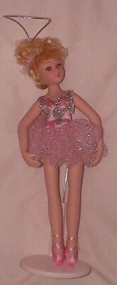 NIB Dainty Dancer Porcelain Doll Pink Tutu Blonde Jointed Head Arms Legs 8.5""
