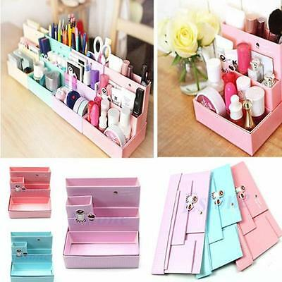 DIY Makeup Cosmetic Stationery Paper Board Storage Box Desk Decor Organizer s6