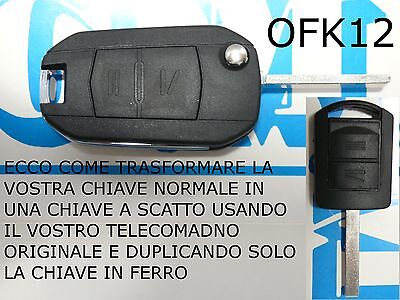 Shell cover key FLAT remote control OPEL CORSA C MERIVA SNAP PACKABLE