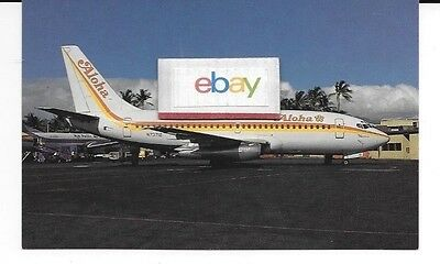 Aloha Airlines  Boeing 737-200 #n73712 2Nd Livery At Honolulu Airport Postcard