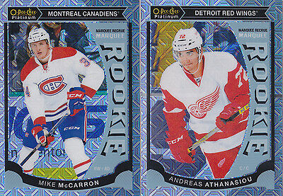 15-16 OPC Platinum Andreas Athanasiou Rookie Traxx OPeeChee Red Wings 2015