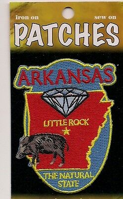 Souvenir Patch - The State Of Arkansas - The Natural State - Little Rock