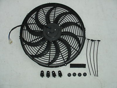 """24V 16/"""" Slim Radiator Cooling Thermo Electric Fan/&Mounting kit"""