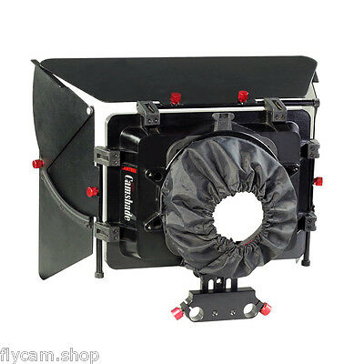 Camtree Sunshade Matte box hood with15mm rod adapter for DV DSLR Video Camcorder