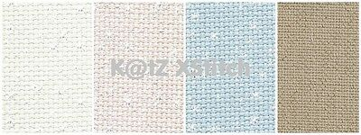 DMC 14ct IRIDESCENT AIDA CROSS STITCH FABRIC, Various Colours / Various Sizes*