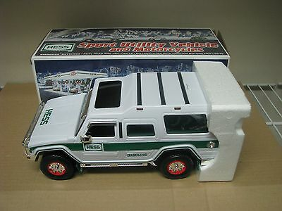 2004 Hess Toy Truck Sport Utility Vehicle And Motorcycles In Box