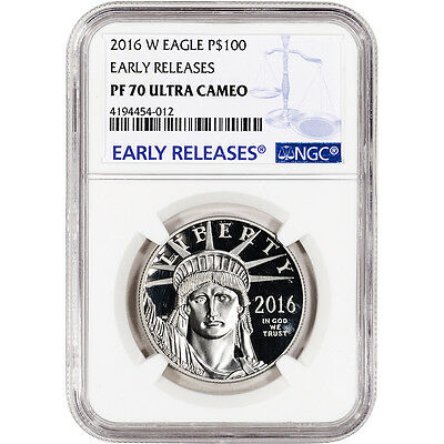 2016-W American Platinum Eagle Proof (1 oz) $100 - NGC PF70 UCAM Early Releases