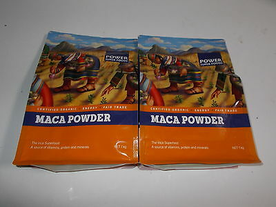2kg POWER SUPER FOODS Maca Power INCA Superfood 100% Dry Root Powder ORGANIC