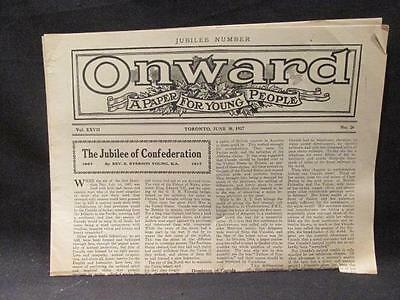 Jubilee Number 1867-1917 Canadian Confederation Onward Paper for Young People