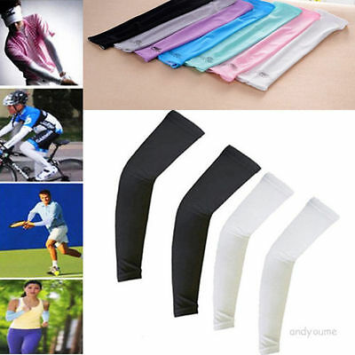 1Pair Cooling Arm Sleeves Cover UV Sun Protection Basketball Golf Athletic s6