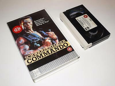 Betamax Video ~ Commando ~ Schwarzenegger ~ Large Case Ex-Rental ~ CBS/FOX Video