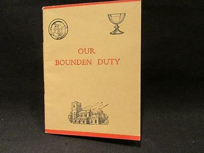 Our Bounden Duty Order of Holy Communion Vintage Church Education Booklet