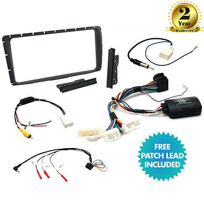 Double Din Facia Steering Control Car Stereo Fitting Kit for Toyota Hilux 12-16