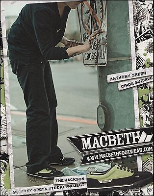 Anthony Green (Circa Survive) MacBeth Footwear Shoes ad 8 x 11 advertisement