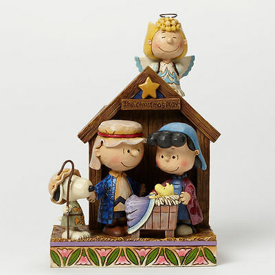 Peanuts Jim Shore Charlie Brown The Christmas Play Pageant Figurine #4042370