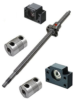 CNC Set ballscrew SFU1204-L810-980mm-C7 & nut +BK/BF10+2pcs BR 6.35x8mm couplers