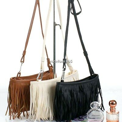Tassel Fringe Crossbody Shoulder Handbag Messenger Bag Women Purse Hobo Tote N4U
