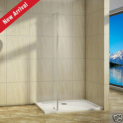250x1950 Return Panel for Wet Room Shower Enclosure 8mm Easy Clean Glass Screen
