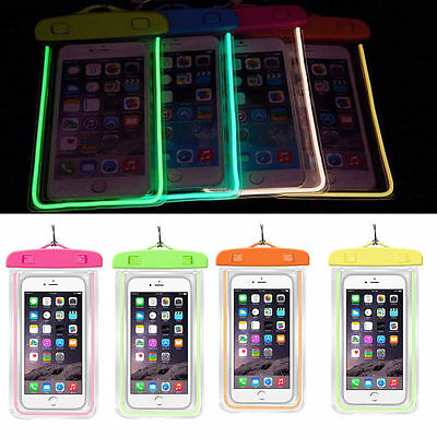 Luminous Glow Waterproof Underwater Pouch Bag Pack Dry Case Cover Universal RR