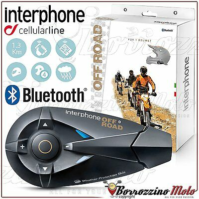 Cellularline Interphone Offroad F5 Intercom Helmet Bluetooth 1,3Km