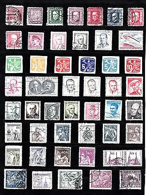 CZECHOSLOVAKIA  Stamp Collection  MINT USED Ref:QC316