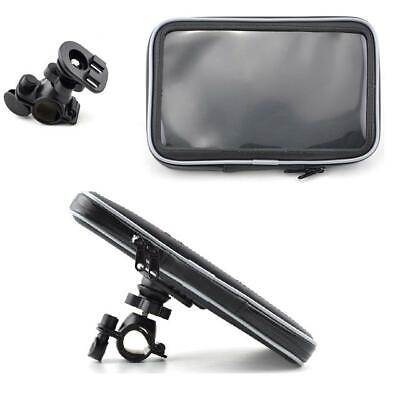 Motorcycle Handlebar Mount & Waterproof Case For 6'' & 7'' Inch Sat Nav Bike